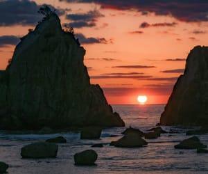 sunrise, view, and sunset image