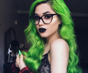 beauty, colorful hair, and curls image