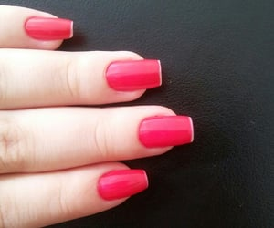 nails, red, and unhas image