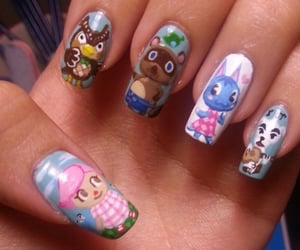 animal crossing, kawaii, and nails image