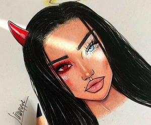 angel, art, and Devil image