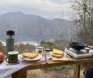 autumn, camping, and drinks image