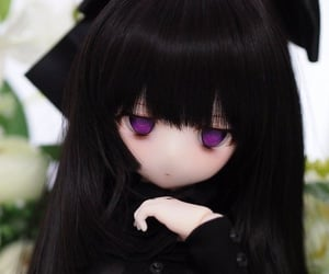 doll, animecore, and goth image