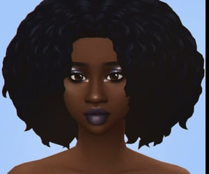 Afro, sims 4, and maxis match cc world image