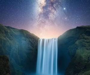 belleza, estrellas, and cielo image