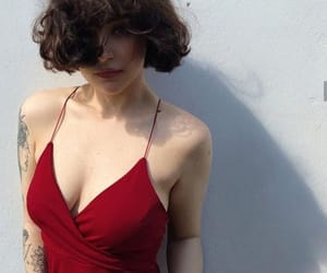 photography, red, and short hair image