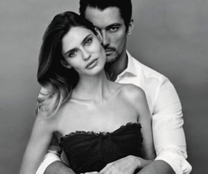 Bianca Balti, black and white, and couple image