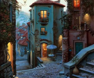 italy, house, and travel image