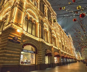 christmas, lights, and Red Square image
