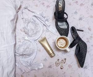 Armani, white, and bra image