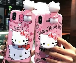 girly things, hello kitty, and pink image