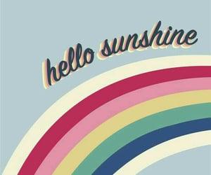 wallpaper, rainbow, and sunshine image