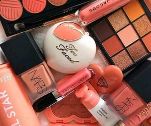 makeup, peachy, and cute image