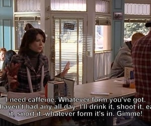 gilmore girls, coffee, and caffeine image