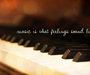music, piano, and quote image
