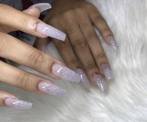 glitter, nails, and nail image