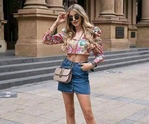 fashion girl, croptops, and purse image