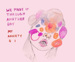 anxiety, art, and illustration image