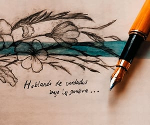 azul, dibujo, and texto image