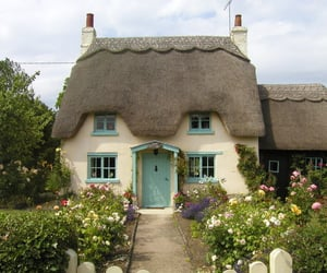 cottage, garden, and english countryside image