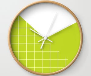 clock, dots, and home office image