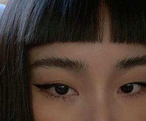 girl, asian, and eyebrows image