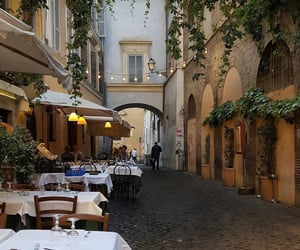 city, restaurant, and rome image