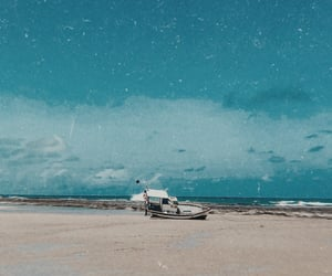 aesthetic, beach, and boat image