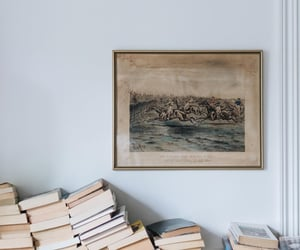 art, beige, and book image