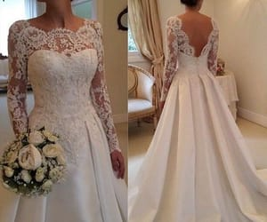 bridal dresses, robe de mariée, and beaded wedding dress image