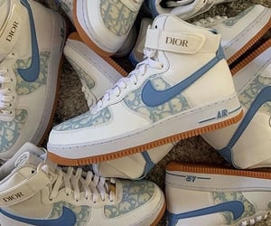 sneakers, blue, and dior image