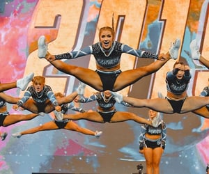cheer, jump, and panthers image