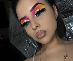 beauty, eyebrows, and eyeliner wing image