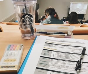 book, college, and starbucks image