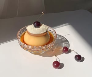 cherry, pretty, and pudding image
