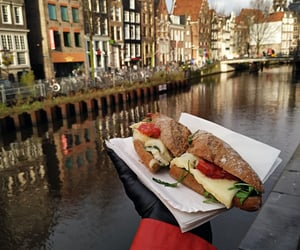 amsterdam, lunch, and cheesy image