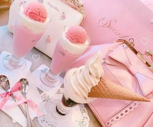 pink and ice cream image