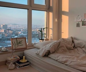 bedroom, room, and city image