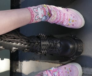 goth, punk, and babypink image