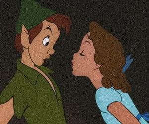 peter pan, kiss, and disney image