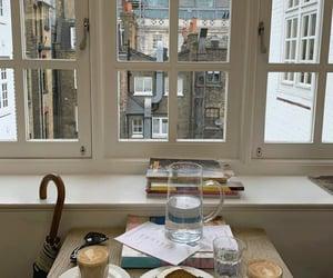 city, cake, and coffee image