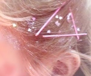 barrettes, soft aesthetic, and sparkle image