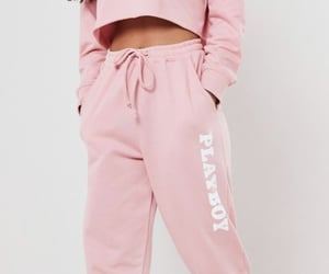 pink, Playboy, and joggers image