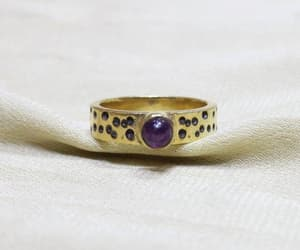 etsy, amethyst ring, and gift for her image