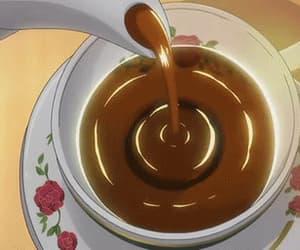 coffee, gif, and anime food image