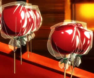 anime food and candy apple image