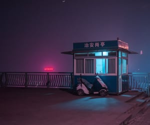 asia, neon, and night image