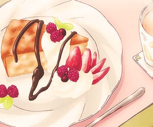 cake, gif, and strawberry image