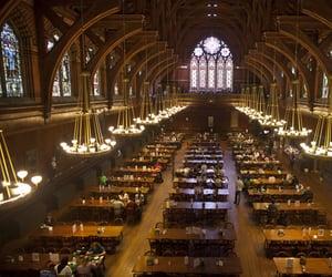 dining hall and dark academia image