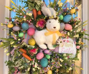 burlap, easter eggs, and party decor image